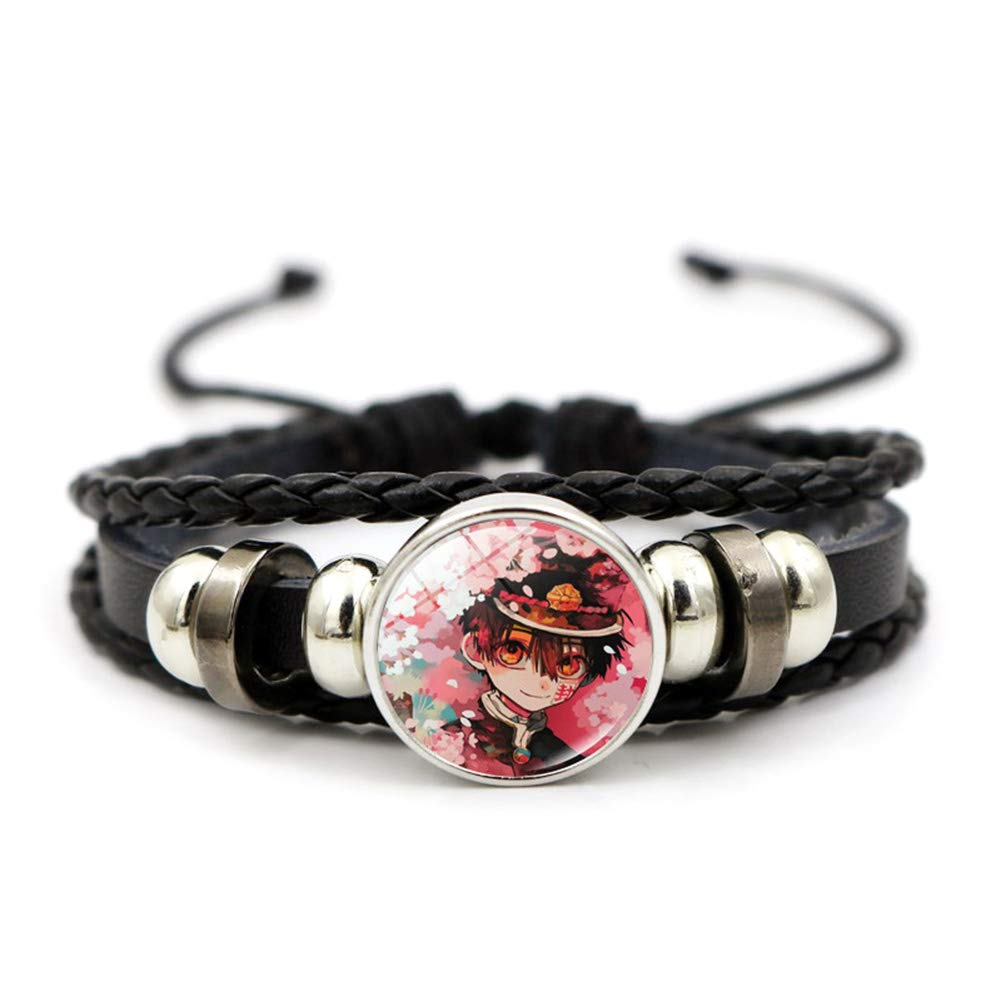 Quero Jom91 Anime Toilet Bound Hanako-kun Bracelet Fashion Handmade Leather Rope Bracelet Wristband Cosplay Bracelet(4)