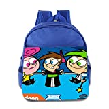 Kids The Fairly Oddparents School Backpack Fashion Baby Boys Girls School Bags RoyalBlue