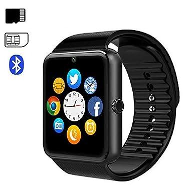 Bluetooth reloj inteligente, TKSTAR inteligente salud reloj de pulsera teléfono GT08 Reloj Inteligente con Pantalla Táctil Monitor de frecuencia cardiaca ...