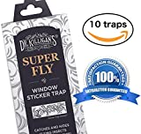 Super Fly | Window Sticker Fly Traps | Sticky Fly Strip | Indoor Insect Trap | Get Rid of Flies | Catches Bugs Including Mosquitos, Moths, Gnats and More | by Dr. Killigan's