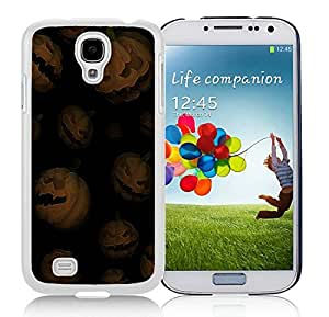 Hot Sell Design Samsung S4 TPU Protective Skin Cover Halloween Pumpkins White Samsung Galaxy S4 i9500 Case 1