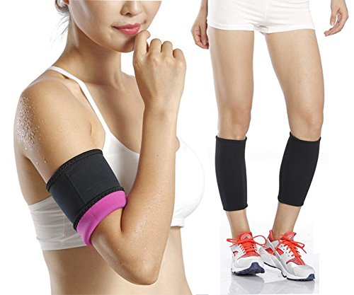 Body Wraps for Reduce Cellulite-Heat Maximizing Neoprene Armbands/Calf Trimmers