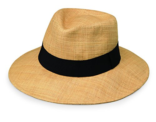 wallaroo Women's Morgan Sun Hat - Fine Raffia Weave - UPF50+, Natural (Celeste Womens Natural)