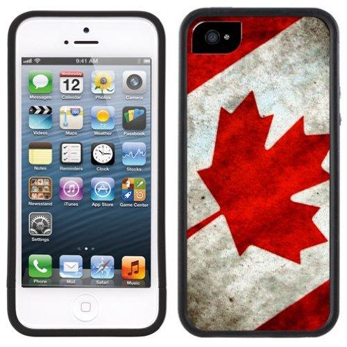 Kanada Flagge | Handgefertigt | iPhone 5 5s | Schwarze Hülle