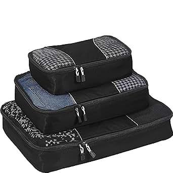 eBags Packing Cubes - 3pc Set (Black)