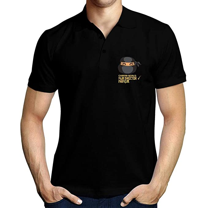 Idakoos Career Goals Film Director Ninja Face Polo Camisa ...