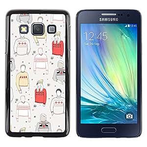 iKiki Tech / Estuche rígido - Jumper Style Clothing Pattern - Samsung Galaxy A3 SM-A300