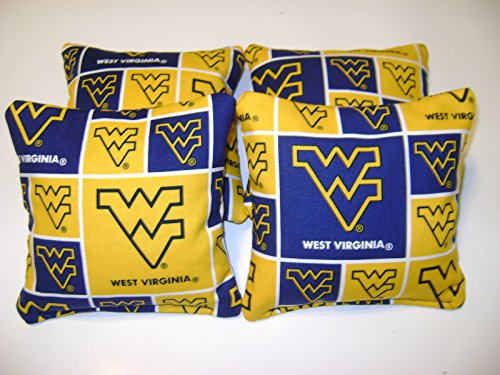 4 Cornhole Bags Corn Hole West Virginia Mountaineers P Baggo Tailgate Toss - Outlet West Gate