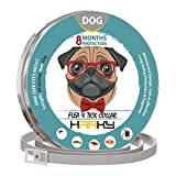 HARKY Dog Flea Collar - Prolonged Tick Prevention - Waterproof And Safe Dog Collar - Natural Ingredients And Adjustable Flea Medicine