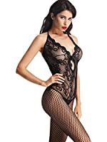 AmoretuWomens Sexy Lingerie Strap Bodysuits Crotchless Bodystocking