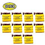 10 pack BGN800-3DWP-41REC LPX70RWH NNYXSB NIC0553 ANIC0553 41B020AD13301 BNP3700B 3.6v 700mah Ni-Cd Battery Replacement BNP3700B S/L 026-148 Dantona CUSTOM-93 026148 Cooper LPX70RWH Dantona CUSTOM-23