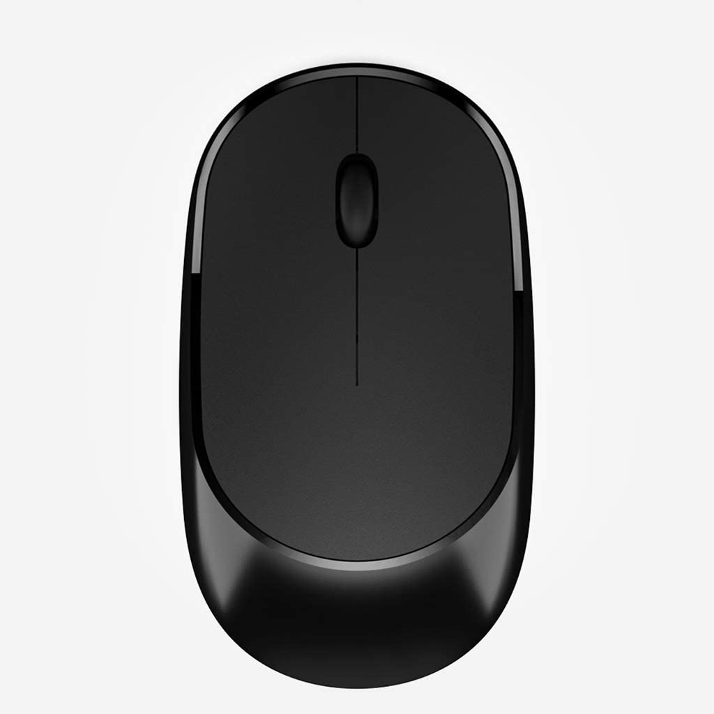BINGFEI 2.4G Silent Wireless Mouse for Computer Laptop Travel Mice Mini Noiseless Ultra Slim Mouse for Notebook PC Desktop Mause,Black