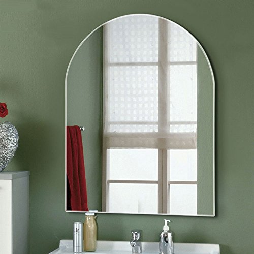 Decoraport 24 Inch 32 Inch Unframed Wall-mounted Bathroom Silvered Mirror Rectangle Vertical Vanity Mirror (A-B101) by Decoraport