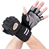 Breathable Ultralight Weight Lifting Sport Gloves, Gym Workout Exercise Gloves with Wrist Wrap Support for Powerlifting, Cross Training, Fitness, Bodybuilding, Best for Men & Women (XL)