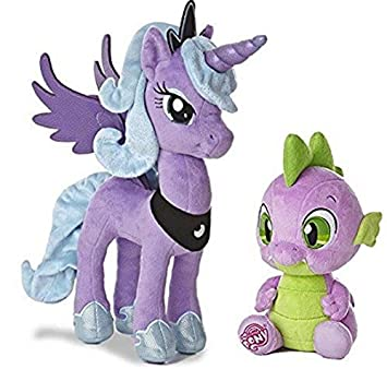 My Little Pony Friendship Magic: Princess Luna 14 inch and Spike the Baby Dragon 10 inch plush toys