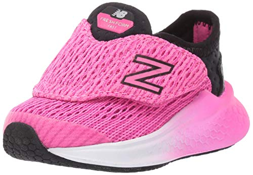 Price comparison product image New Balance Girls' Fast V1 Fresh Foam Hook and Loop Running Shoe,  Black / Peony,  8 M US Toddler