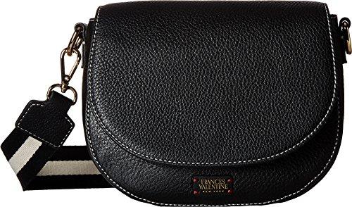 Frances Valentine Women's Mini Ellen Shoulder Satchel with Webbing Black Handbag