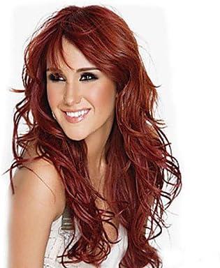 GSP-vino la moda europea y americana de color rojo peluca ...