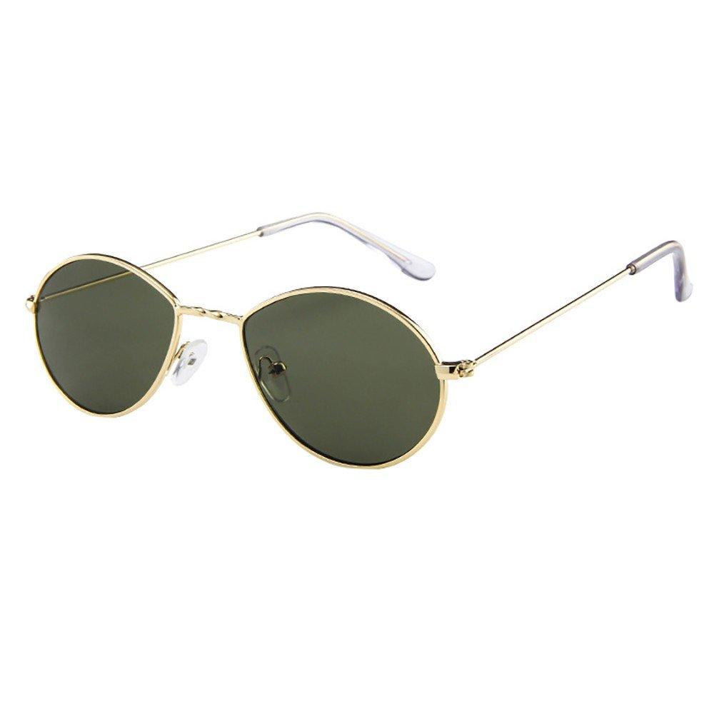 YEZIJIN Mens Womens Retro Vintage Water Droplets Oval Shape Rapper Sunglasses Eyewear
