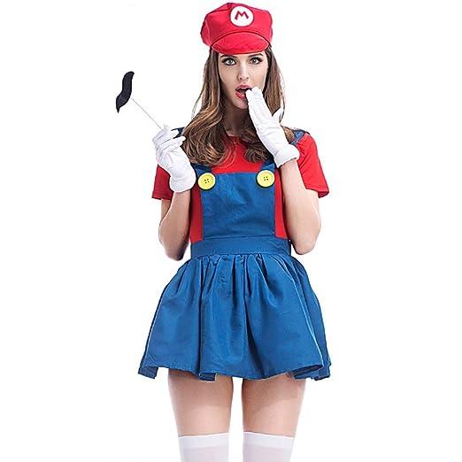 HG-amaon Mario Halloween Cosplay Game Wear, Fontanero con Disfraz ...
