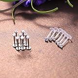 YADOCA 18 Pcs 16G Forward Helix Tragus Earrings for Women Men Medusa Lip Monroe Cartilage Labret Flatback Nose Studs Piercing Jewelry 6mm 8mm 10mm