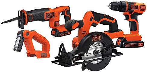 BLACK+DECKER 20V MAX Cordless Drill Combo Kit, 4-Tool (BD4KITCDCRL)