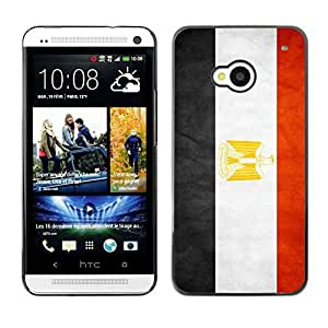 YOYO Slim PC / Aluminium Case Cover Armor Shell Portection //Egypt Grunge Flag //HTC One M7