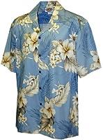 Plumeria Hibiscus-Hawaiian Shirts-Aloha shirt-Hawaiian Clothing