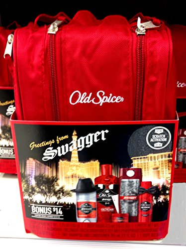 Old Spice Swagger 5 Piece Gift Set in Sturdy Travel Bag + FREE 2 Pack of Twin Blade Razors Body Spray Body Wash Anti Perspirant Deodorant ... & Old Spice Swagger 5 Piece Gift Set in Sturdy Travel Bag + FREE 2 ...