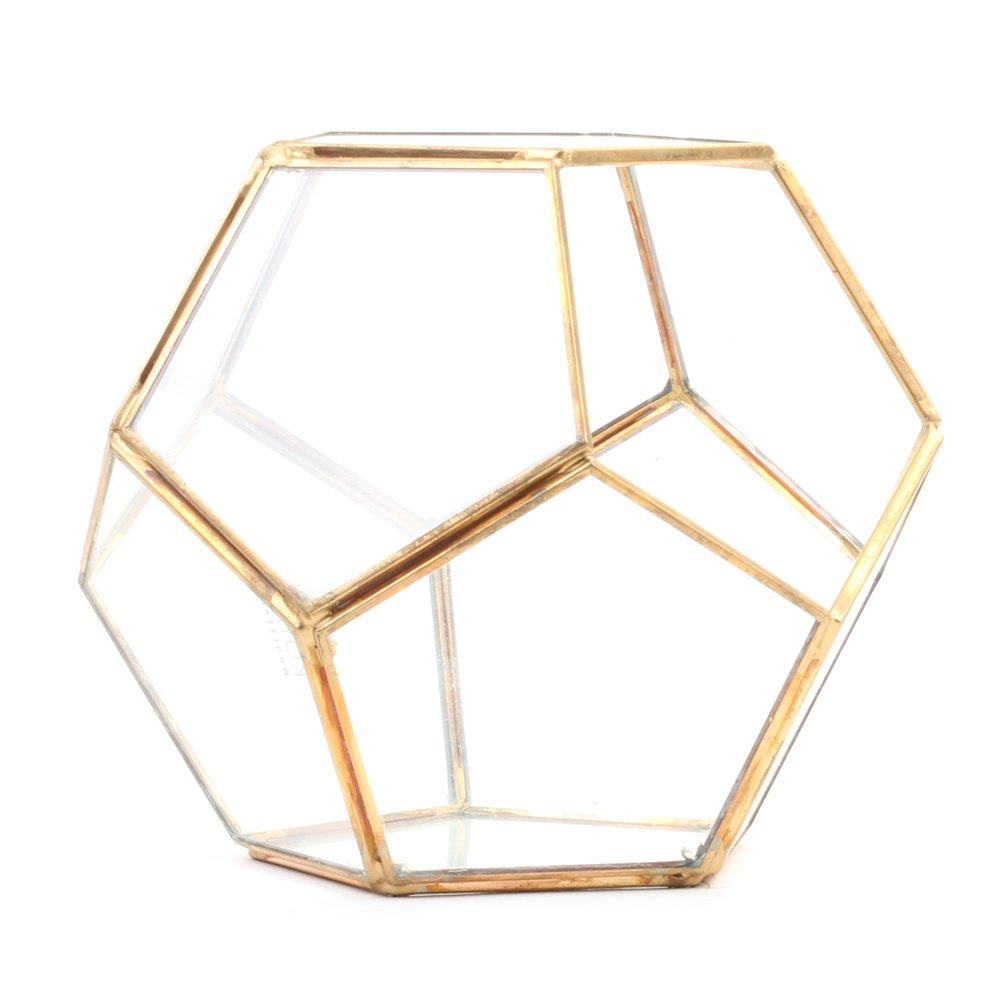 photo Koyal Wholesale Diamond Geometric Table Glass Terrarium