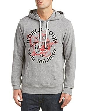 Travis Mathew Men's Rock Tour Pullover Hoodie Sweatshirt in Heather Grey