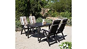 Best 9piezas de muebles de jardín Dining Set Saller Elise marrón