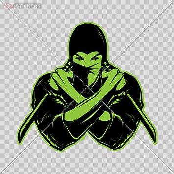 Amazon.com: Decal Ninja Logo Color Print (8 X 7.4 Inch ...