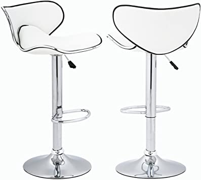 Amazon Com Bestoffice Adjustable Height Swivel Bar Stools With Chrome Base Counter Height Stools Set Of 2 Furniture Decor