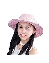 Straw Parent-Child Hats Panama Hat Girls Women Flower Summer Sun Hats