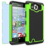 Microsoft Lumia 950 Case, INNOVAA Smart Grid Defender Armor Case (Not Compatible with Lumia 950 XL) W/ Free Screen Protector & Touch Screen Stylus Pen - Black/Green
