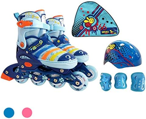 Mpoutik Children s Kid s Adjustable Inline Skates Quad Roller Skates Convertible 2 in 1 Boys Girls Speed Roller Skates Shoes