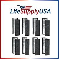 8 Pack - True HEPA Replacement Filter for GermGuardian FLT5000/FLT5111 AC5000 Series, Filter C, Germ Guardian