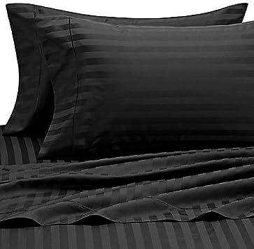 Avisales 600 Fils Cm 26 Cm Poche Profonde Drap Housse King Ikea Euro Noir Raye Lot De 100 Coton Egyptien 600tc Amazon Fr Cuisine Maison