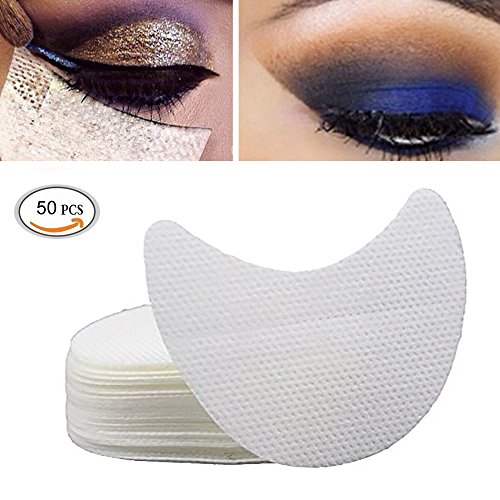 Shield Powder (Ochioly 50 Pieces Eyeshadow Shield Under Pad Eyelash Extensions Patch Multifunction Beauty Eye Lip Make Up Tools)