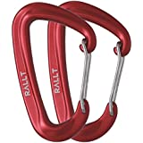 Rallt 10 kN Aluminum Wire Gate Carabiners - Heavy Duty, 2,248-pound Rating for Hammocks, Camping, Hiking & Utility