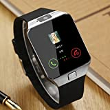 Smartwatch, Bluetooth Watch and Unlocked Watch Cell Phone all in one for Android Smartphones Samsung Sony LG and IOS iPhone–Silver