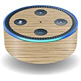 MightySkins Protective Vinyl Skin Decal for Amazon Echo Dot (2nd Generation) wrap Cover Sticker Skins Light Zebra Wood