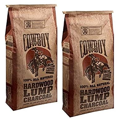 Cowboy Brand Hardwood Lump Charcoal, 20 lbs (2)