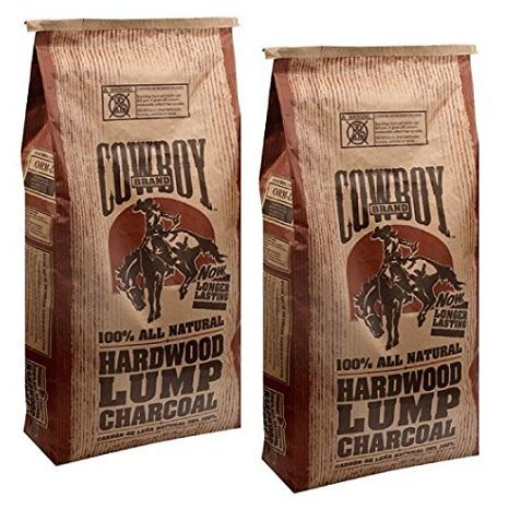 Cowboy Brand Hardwood Lump Charcoal, 20 lbs (2) - Best Lump Charcoal