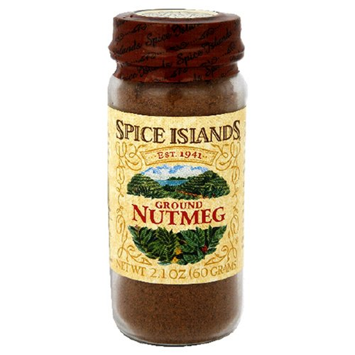 Spice Island Ground Nutmeg, 2.1-Ounce Jar (Pack of 3) by Spice Island