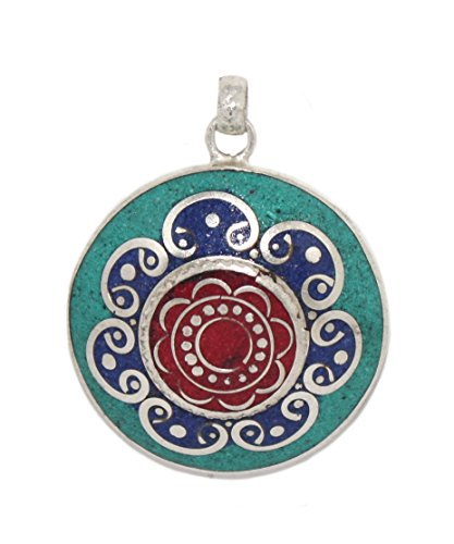 (Turquoise pendant Coral Pendant Lapis Pendant Tibetan Pendant)