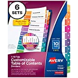 Avery 10-Tab Dividers for 3 Ring