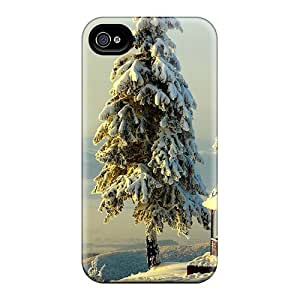 Zheng caseIphone 4/4s Case Bumper Tpu Skin Cover For Fantastic Mountain View In Winter Accessories