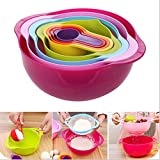 8 Piece Compact Food Preparation Mixing Bowl Set